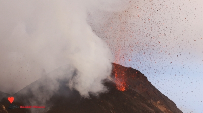 The volcanic activity of Stromboli.