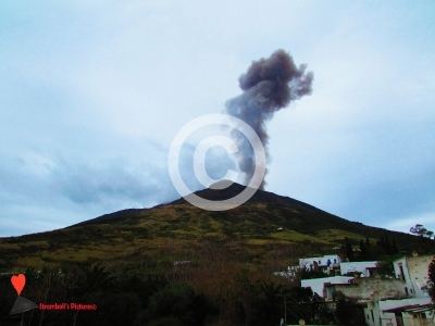 Explosion of the Stromboli volcano 7 March 2018.